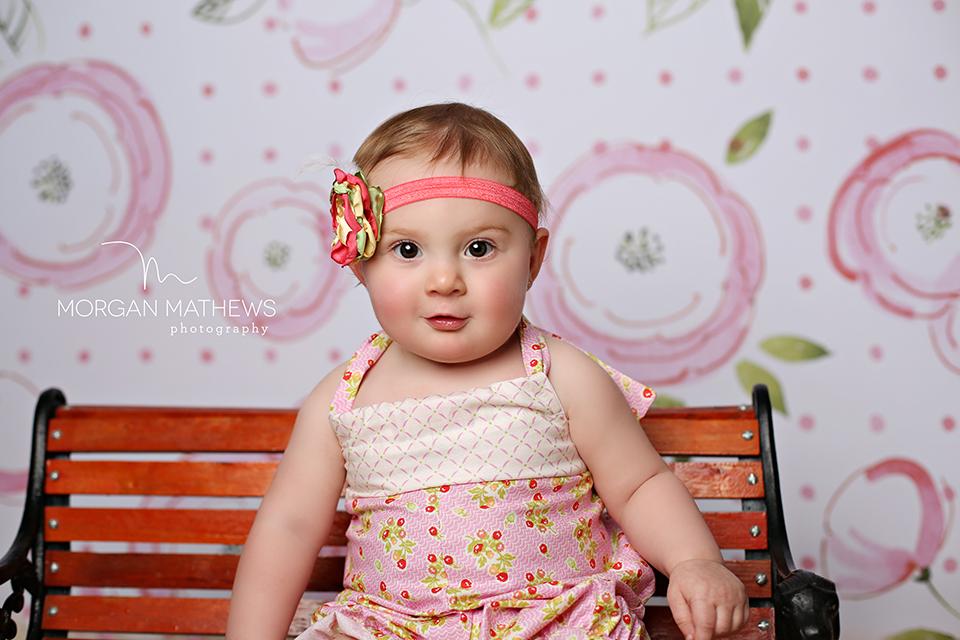 Baby Girl Cake Smash Photography Romper