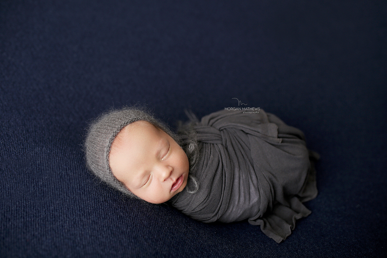 Reno Nevada newborn photographer baby all wrapped up