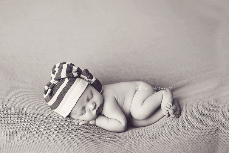 black and white newborn portrait in Reno nv