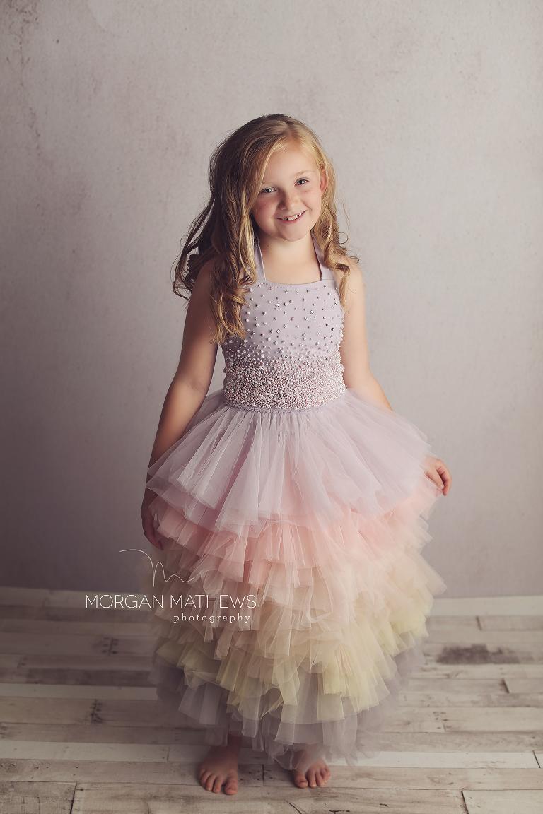 Child Photographer in a pretty dress in Reno Nevada