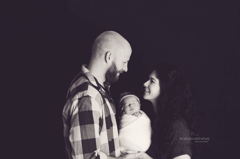 Newborn photographer Reno Nevada happy family portrait